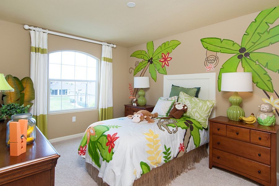 Its a jungle in there! - Fun kids' tropical style bedroom