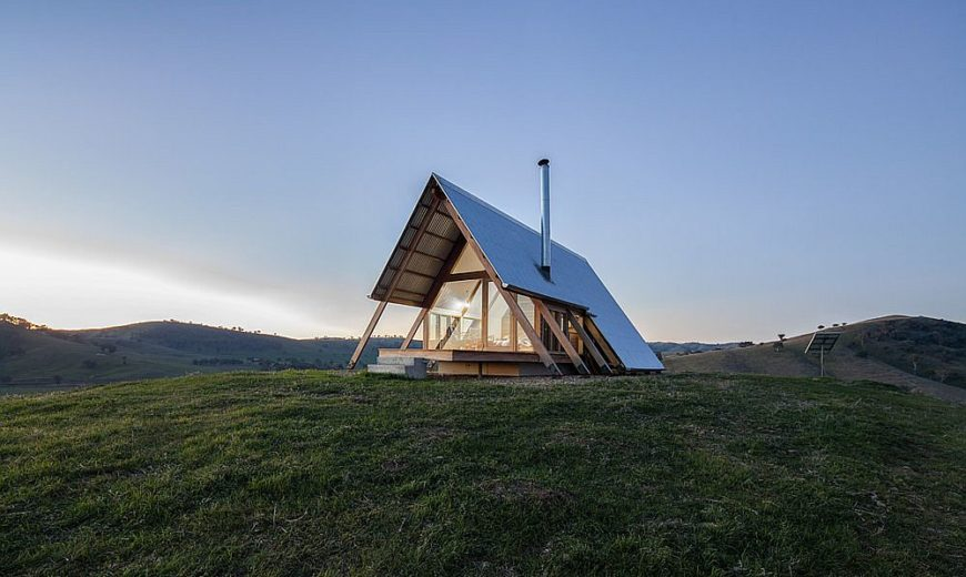 Rural Escape: Sustainable and Woodsy Cabin Inspired by A-Frame Design