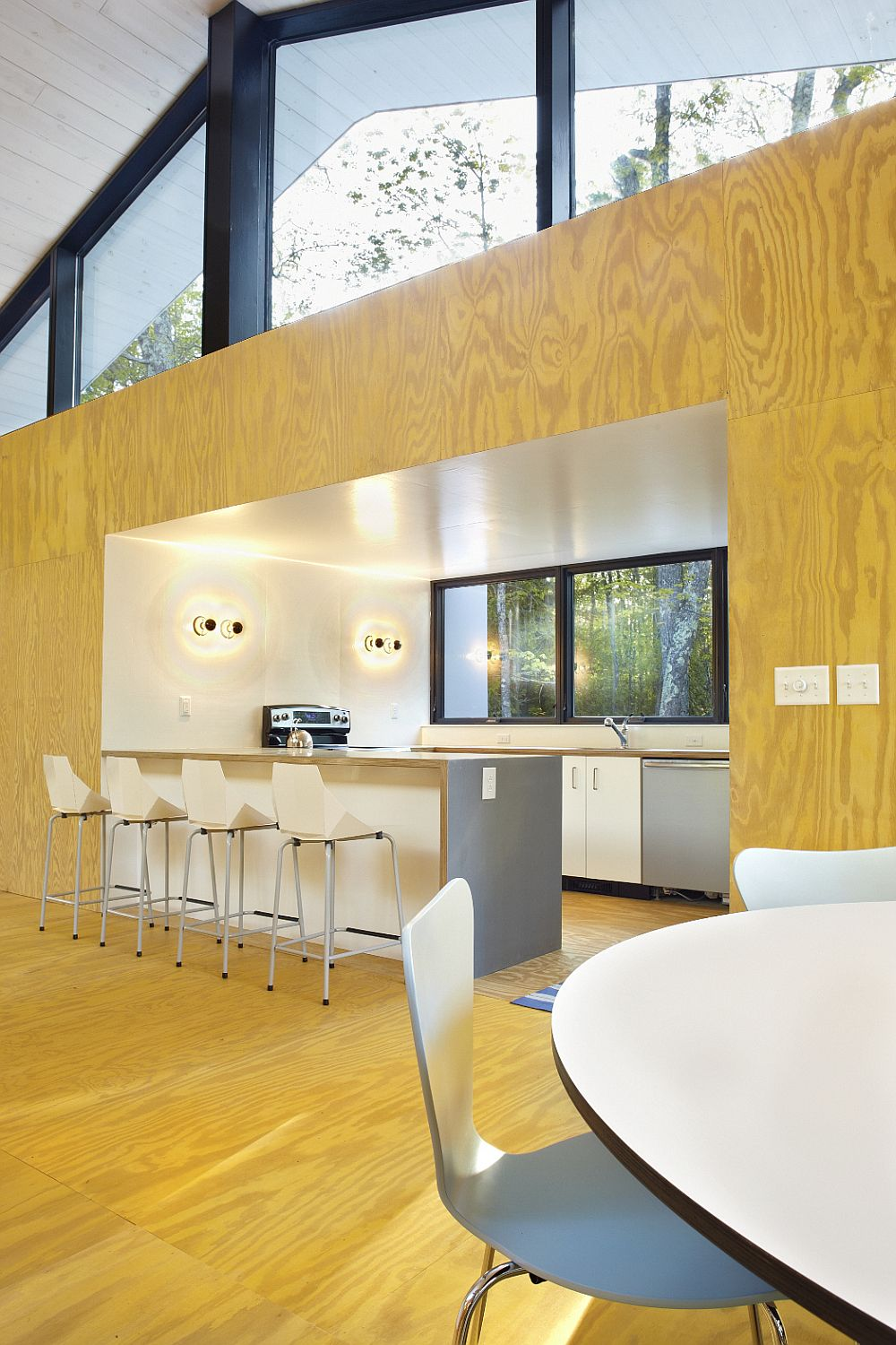 Kitchen acts as a room within a room thanks to its unique design