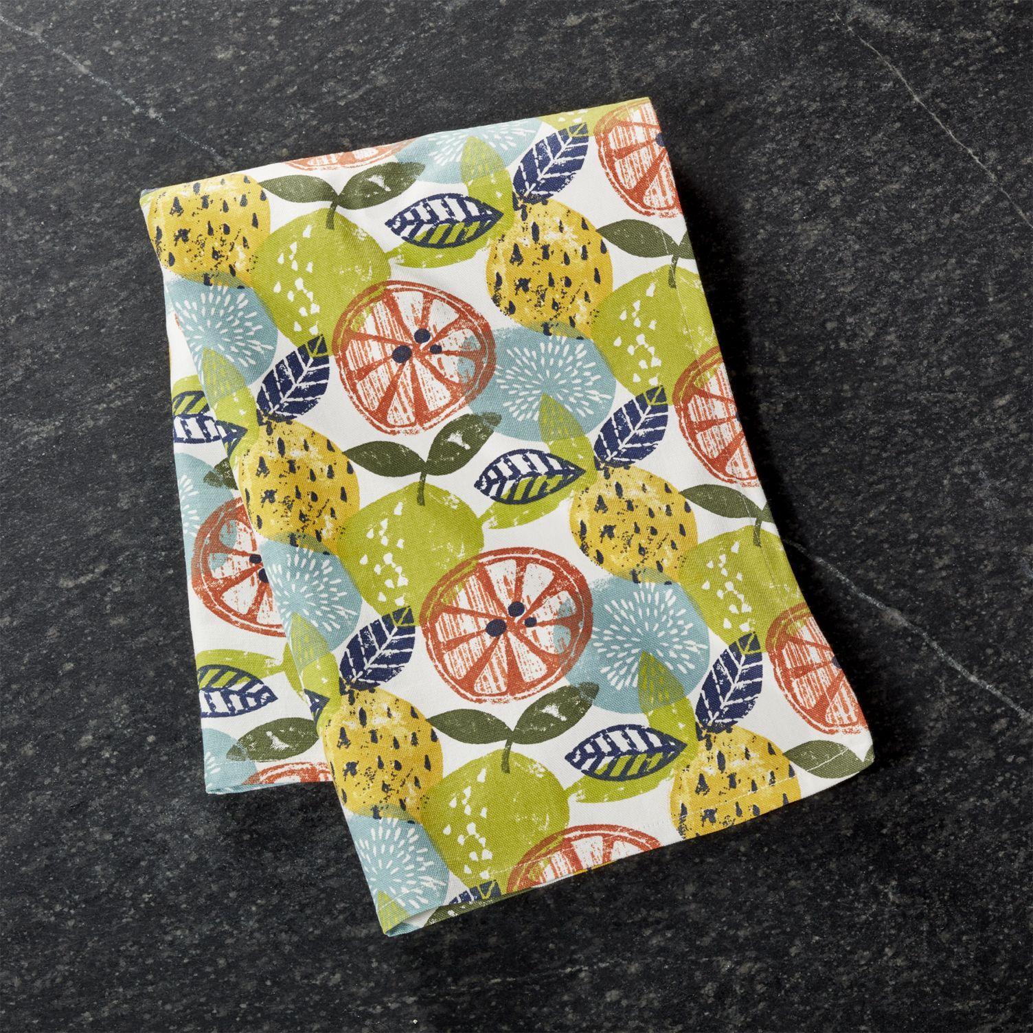 Lemon-themed-dish-towel