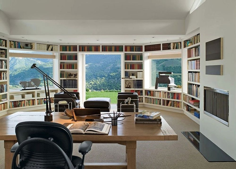 Library and home office rolled into one