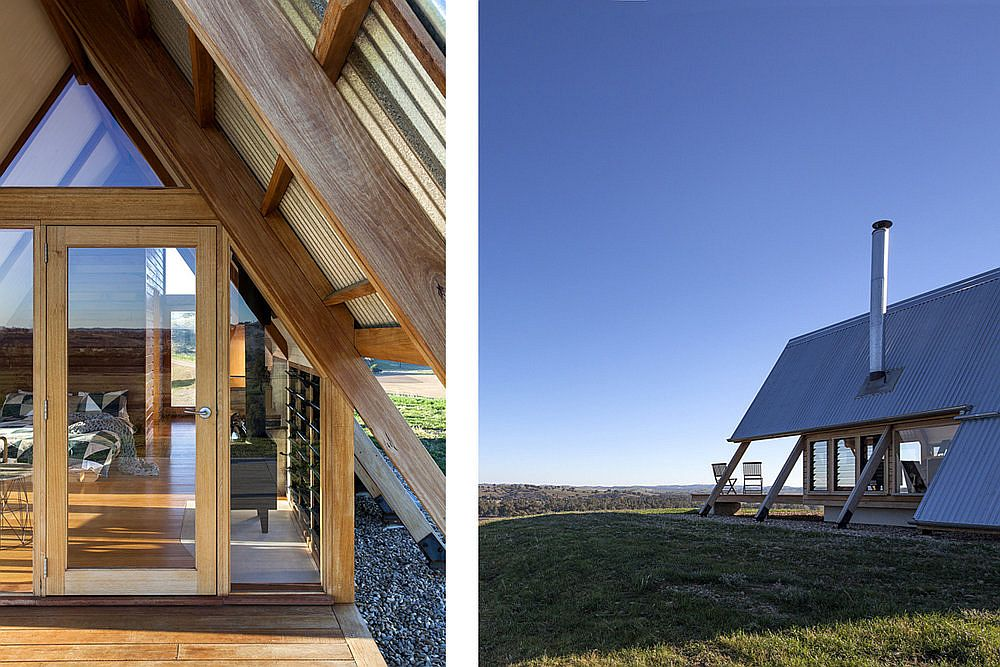 Locally sources Australian hardwoods used for the construction of the A-frame