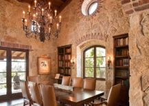 Mediterranean-dining-room-with-walls-that-offer-plenty-of-texture-217x155