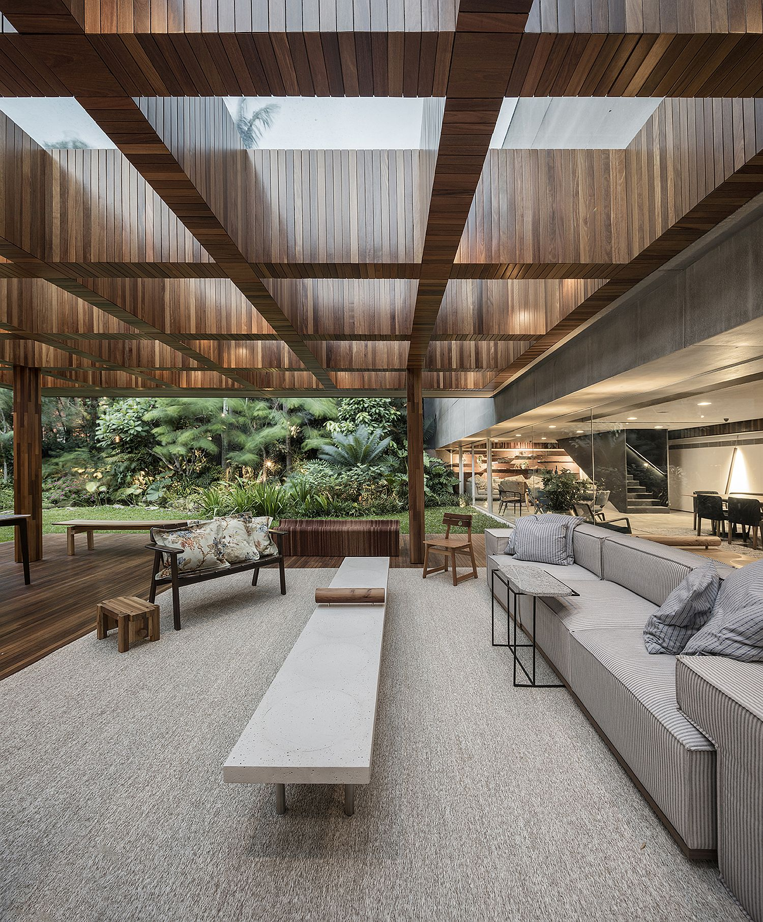 Open concept indoor outdoor living area that allows for proper ventilation
