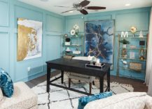 Modern-beach-style-bathroom-in-blue-with-beautiful-gold-accents-217x155