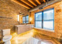 Modern-industrial-bathroom-with-gorgeous-brick-walls-217x155