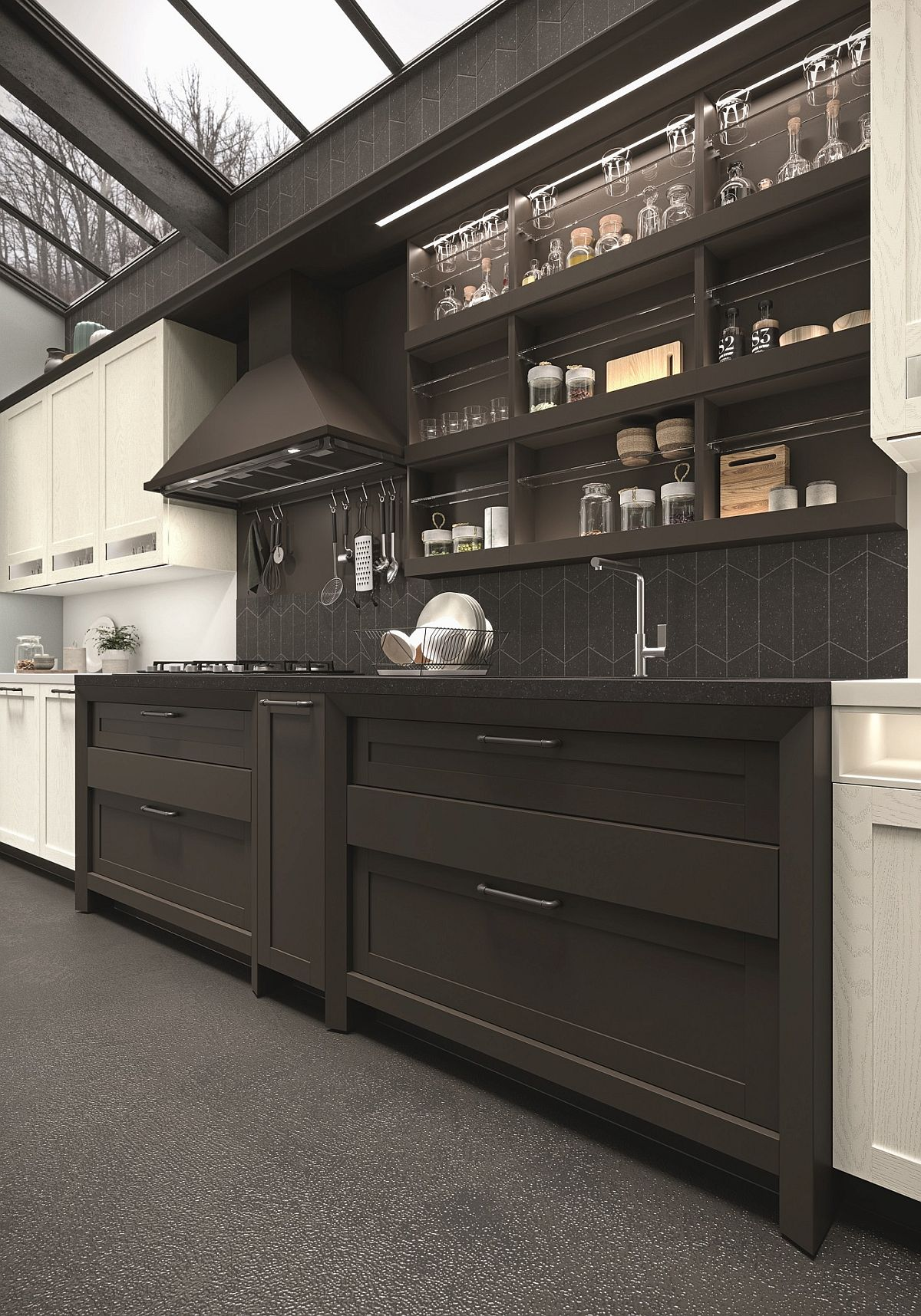 Modern-kitchen-with-English-country-charm-and-Scandinavian-simplicity