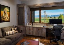 Modern-rustic-home-office-with-wooden-shelving-cabinets-and-lovely-mountain-views-217x155