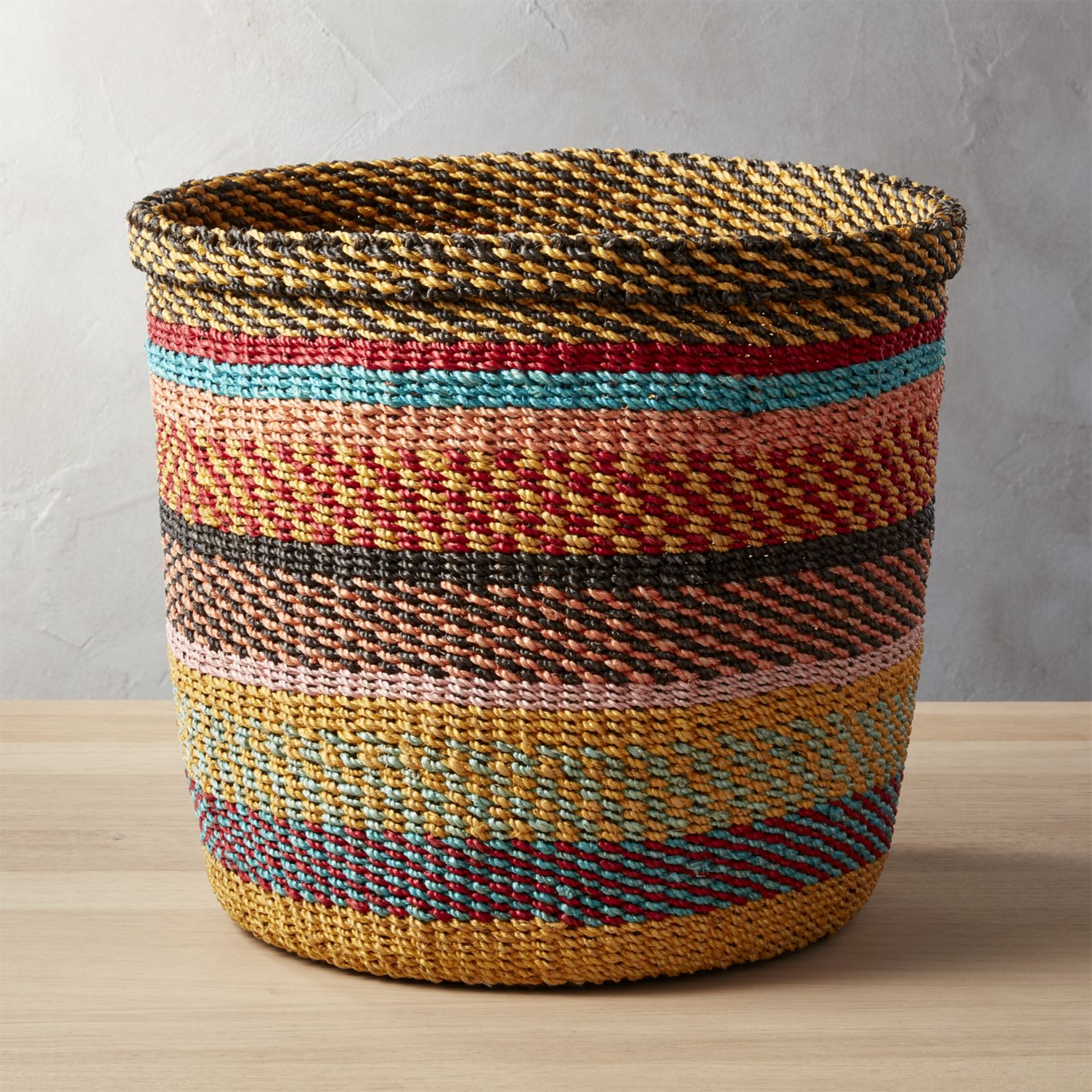 Multi-colored-woven-basket