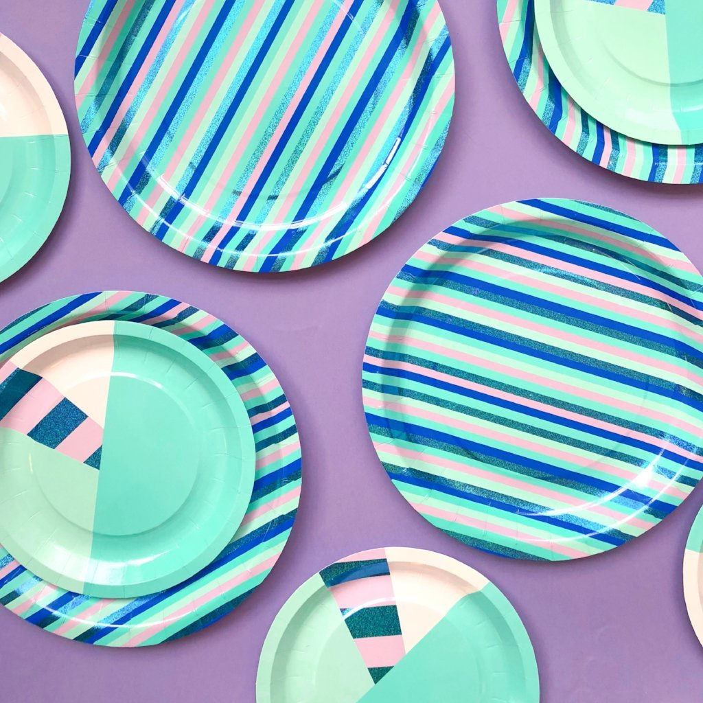 New striped party plates from Bash