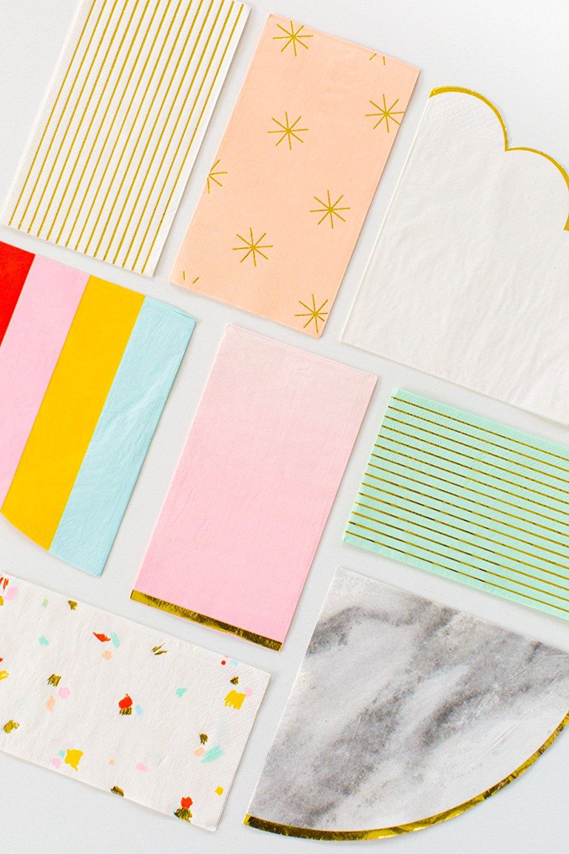 Party napkins by Sugar & Cloth