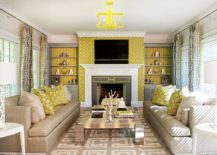 Polished-contemporary-living-room-in-gray-yellow-and-white-217x155