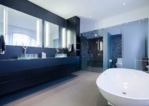 Polished-industrial-bathroom-in-white-and-blue-217x155
