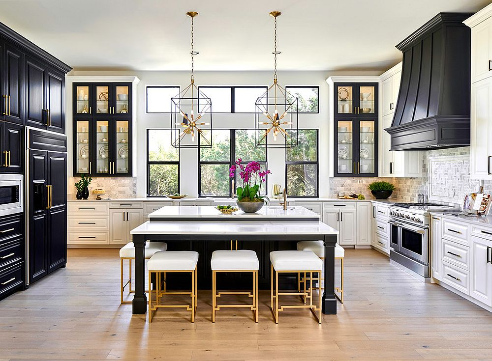 Dark delicacy how to bring a brilliant black island into your kitchen for White and black kitchen designs