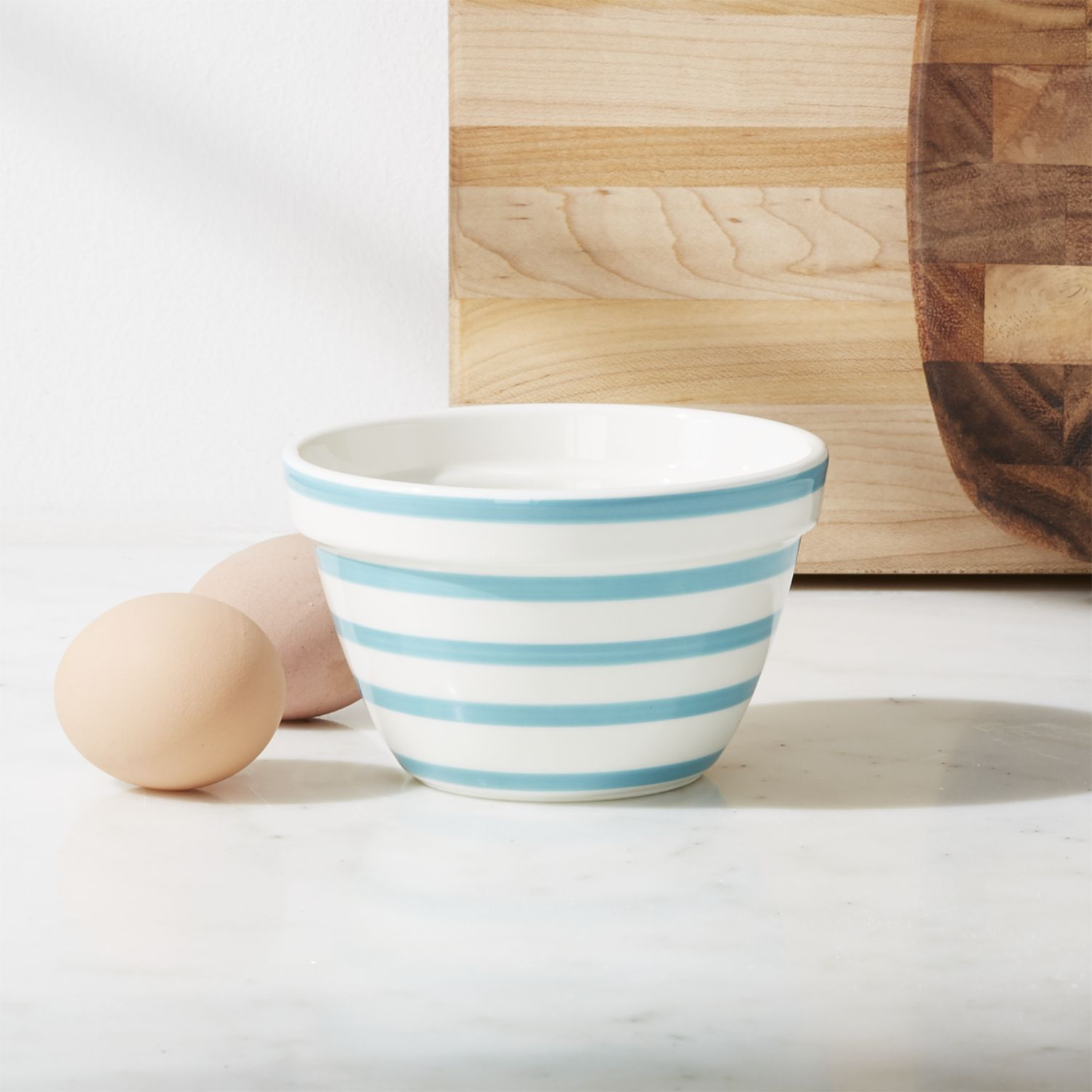 Striped mixing bowl