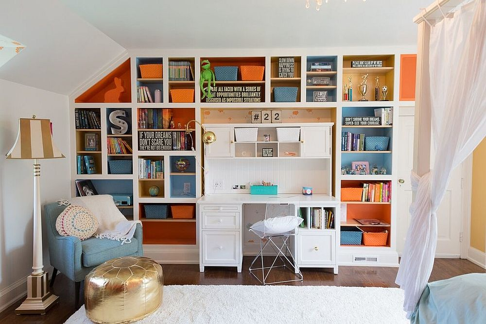 Traditional-kids-room-with-splashes-of-blue-and-orange