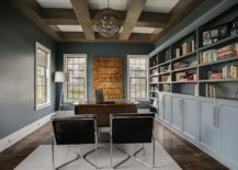 Transitional-home-office-in-bluish-gray-with-just-a-pinch-of-gold-in-the-backdrop-217x155