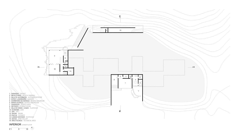 Upper level floor plan of Casa Terra