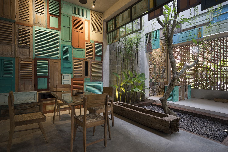 Vintage Wooden Panels Brick And Ingenuity Graha Lakon In Indonesia