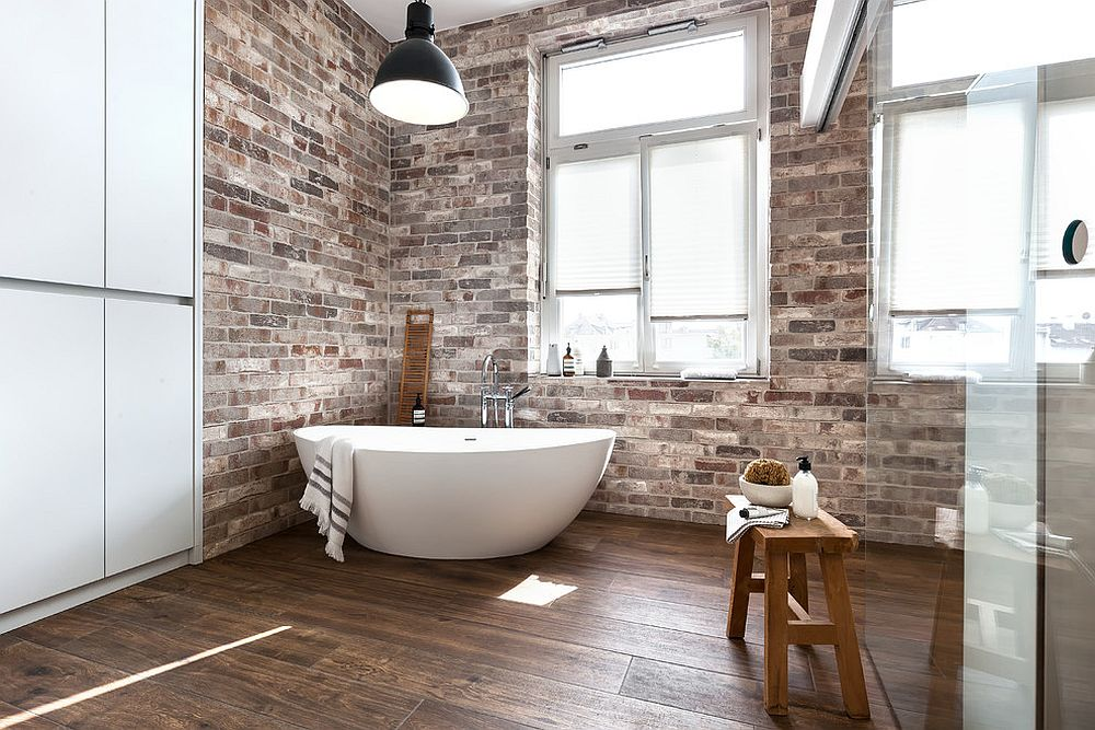 Best Color Schemes For Industrial Style Bathrooms 25