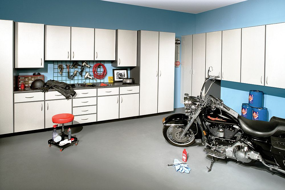 A man cave idea for those who love their bikes as much as the big game night!