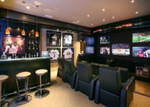 Baseball-themed-decor-for-contemporary-home-theater-217x155