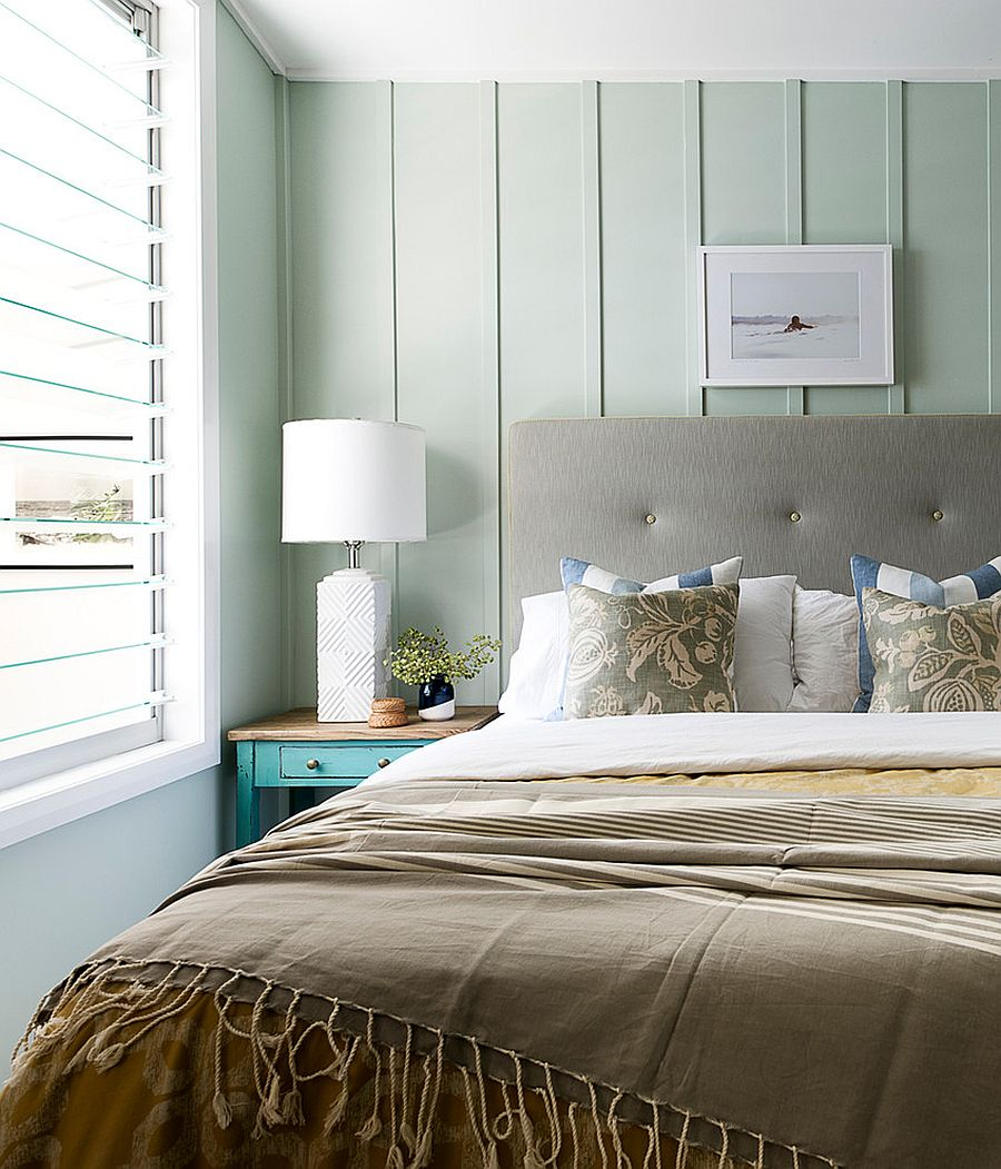 Beach style bedroom filled with natural light