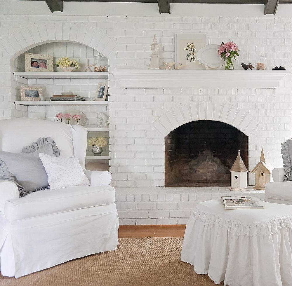 Belgian chic living room in white decoist for Lounge for living room