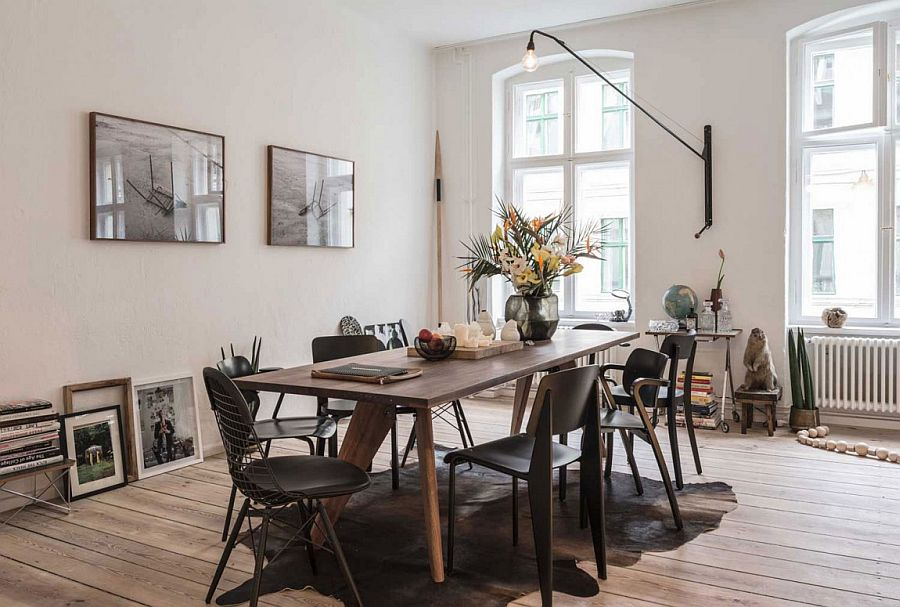 Casual Scandinavian style decorating for the tiny living room
