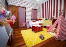 Charming-kids-room-with-plenty-of-pattern-and-a-rug-that-brings-in-yellow-217x155