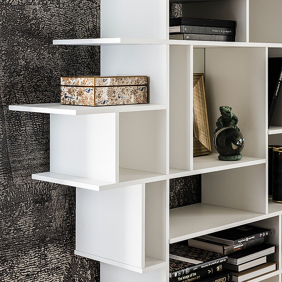 Closer look at the Harlem Bookcase in white