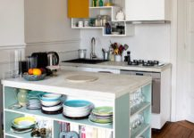 Contemporary-kitchen-island-with-shelves-offers-plenty-of-storage-space-in-this-tiny-kitchen-217x155
