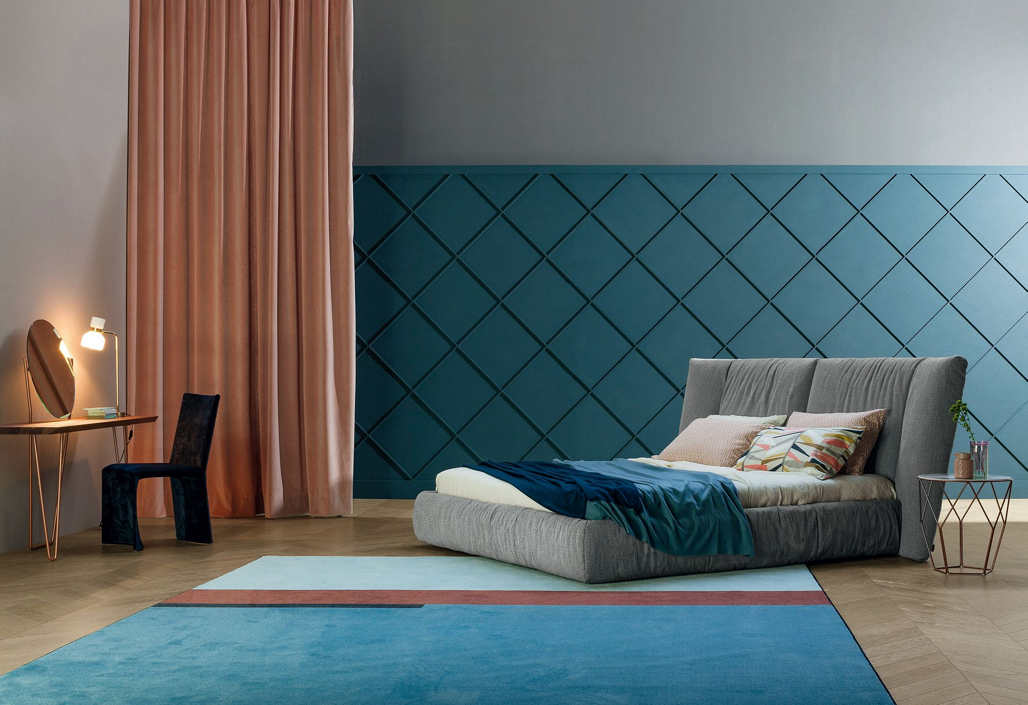 Cozy bed creates a comfortable cocoon effect