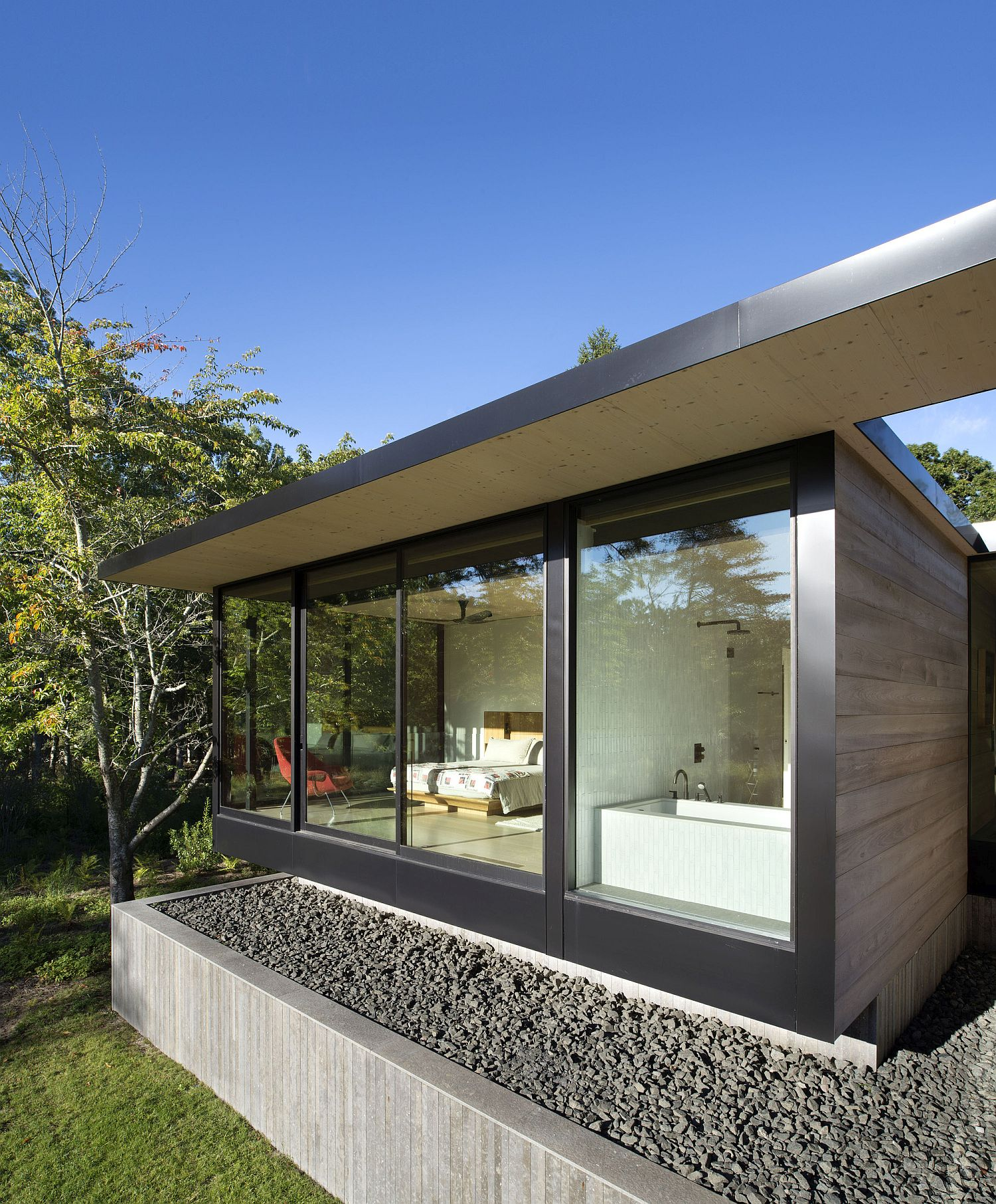 Elevated exterior of the home keeps away future storm surges