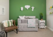Farmhouse-style-nursery-with-green-accent-wall-217x155