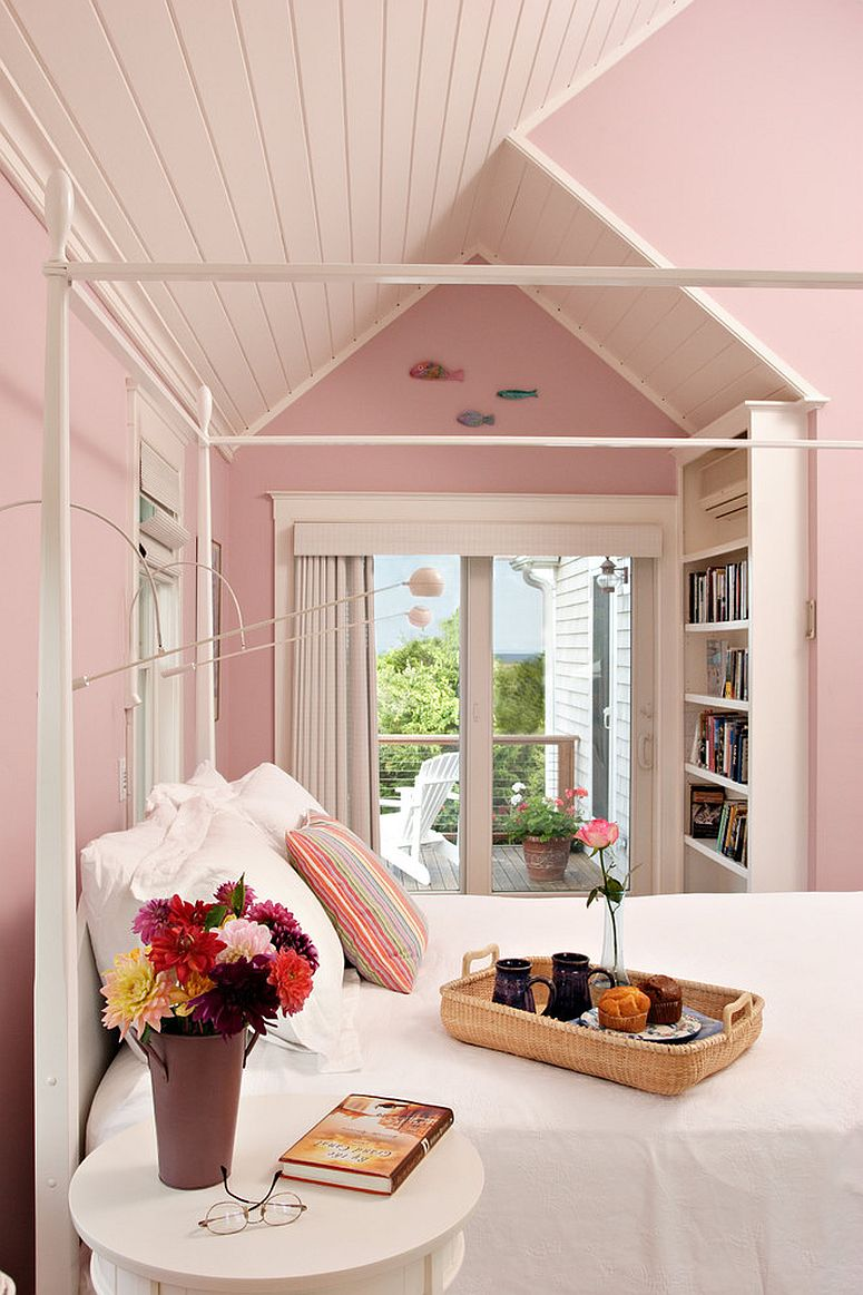 Finding the right shade of pink for the beautiful shabby chic bedroom