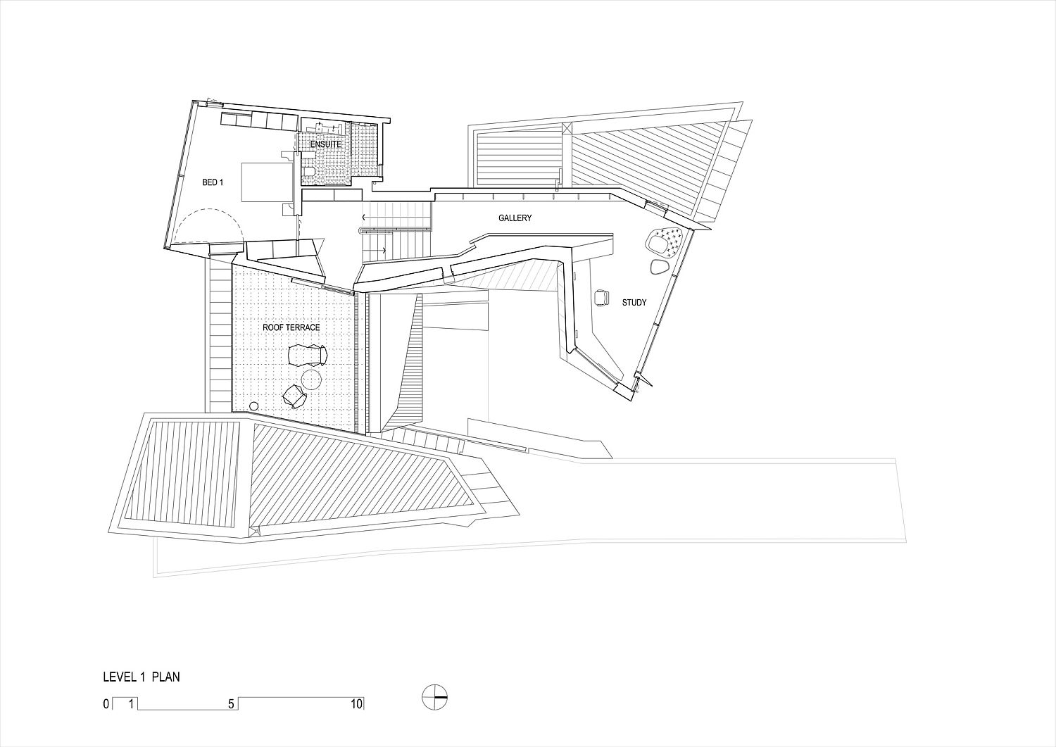 First Level floor plan of Fairhaven Beach House