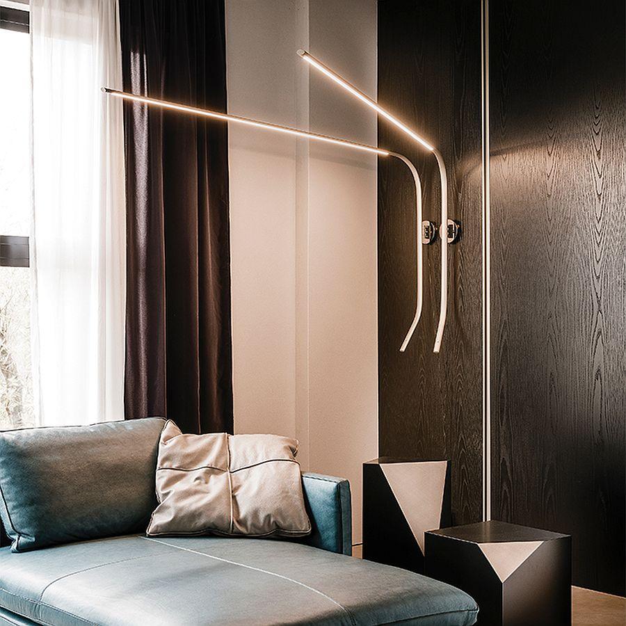 Fisherman wall lamp is both adjustable and slim