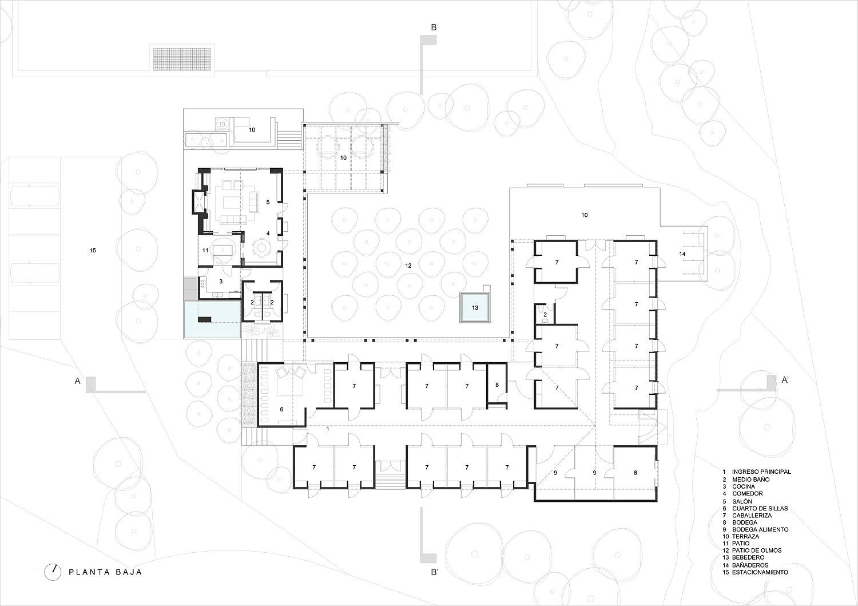 Floor plan of Rancho San Francisco