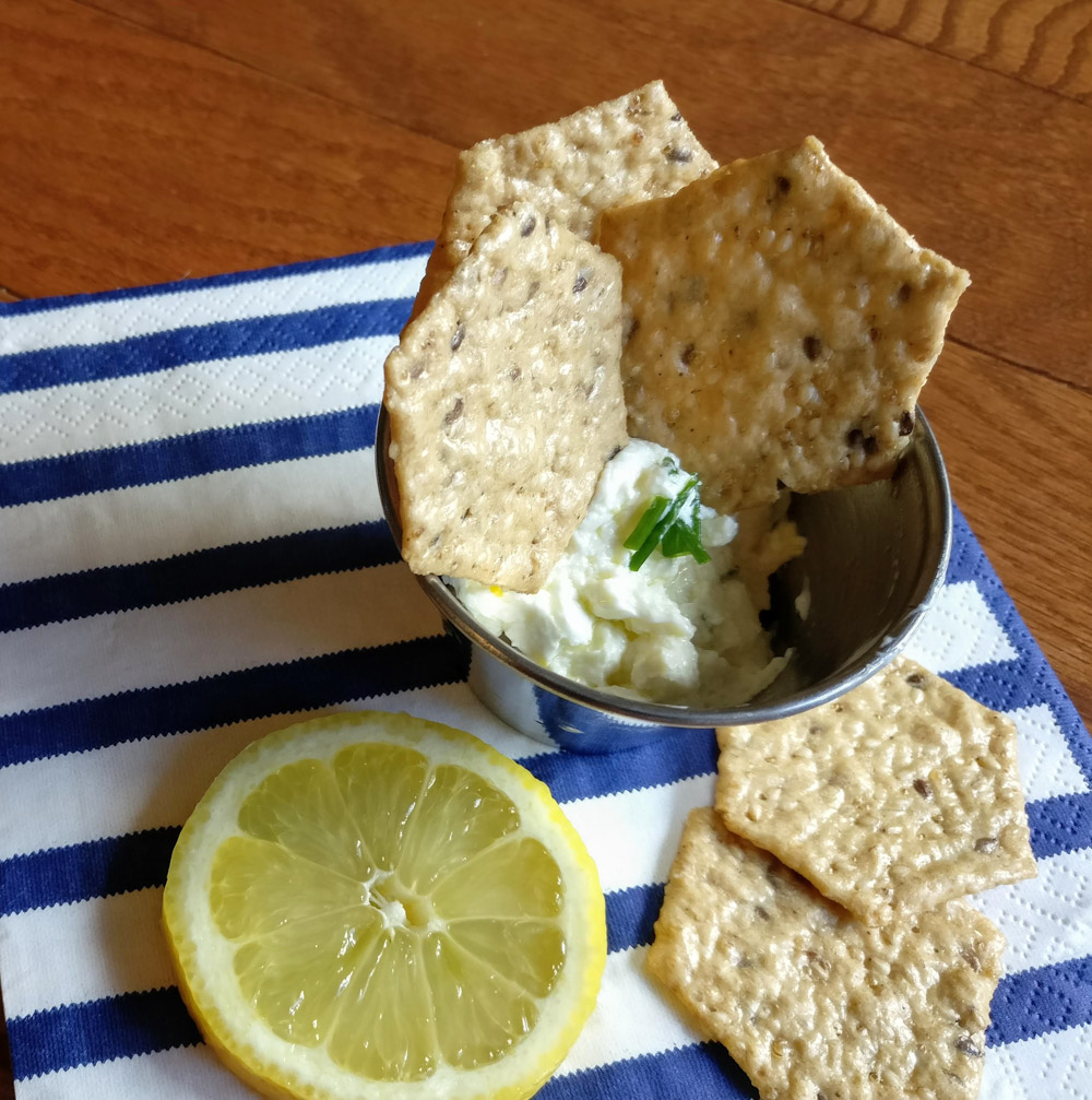 Goat cheese aioli adds tangy flavor