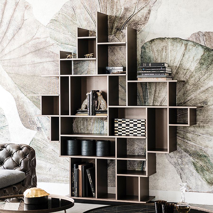 Goregous Harlem bookcase is perfect for the space-savvy modern home office