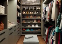 Gorgeous-eclectic-closet-in-gray-with-lovely-chandelier-lighting-217x155