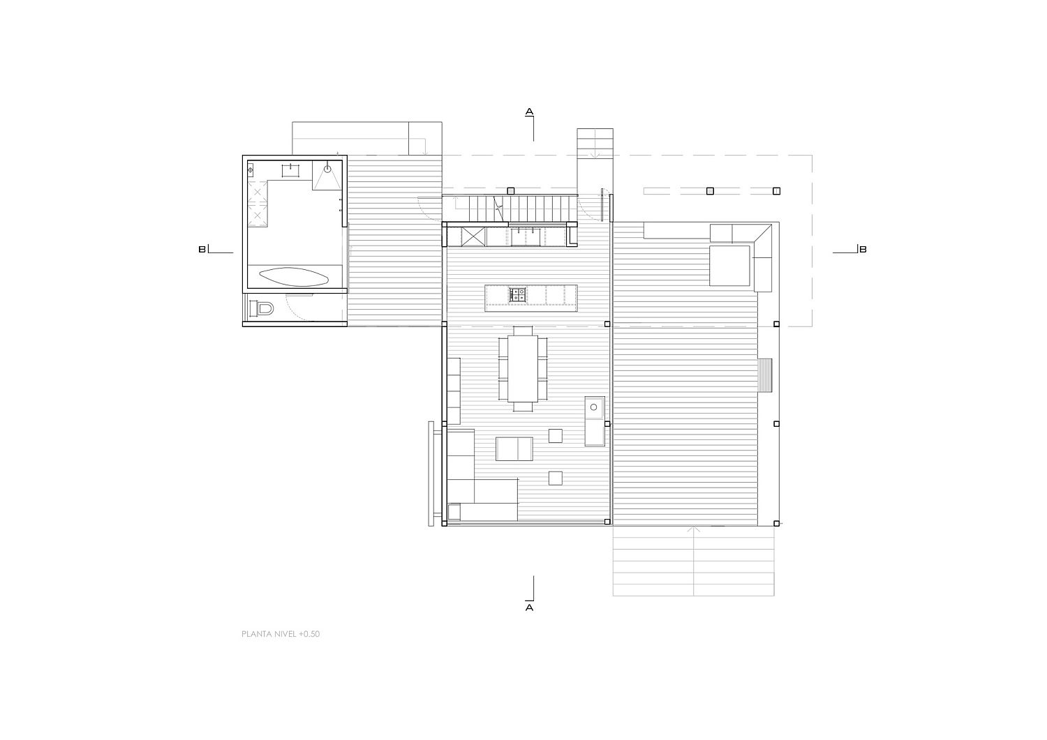 Ground level floor plan of Harfagar House