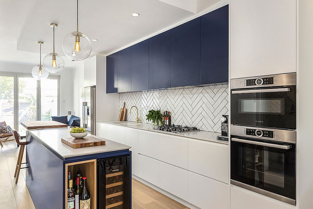 Kitchen-island-with-shelving-offers-additional-storage-options-in-the-modern-home