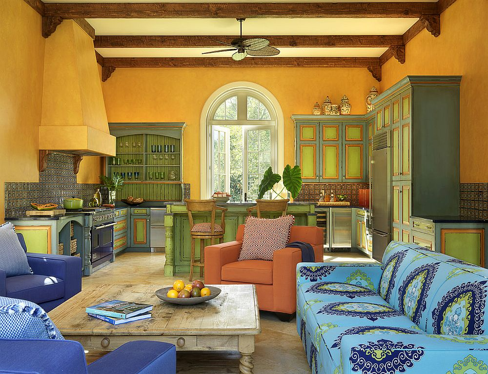 Mediterranean style kitchen with loads of yellow