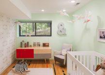 Midcentury-modernnursery-in-pastel-green-with-smart-lighting-217x155