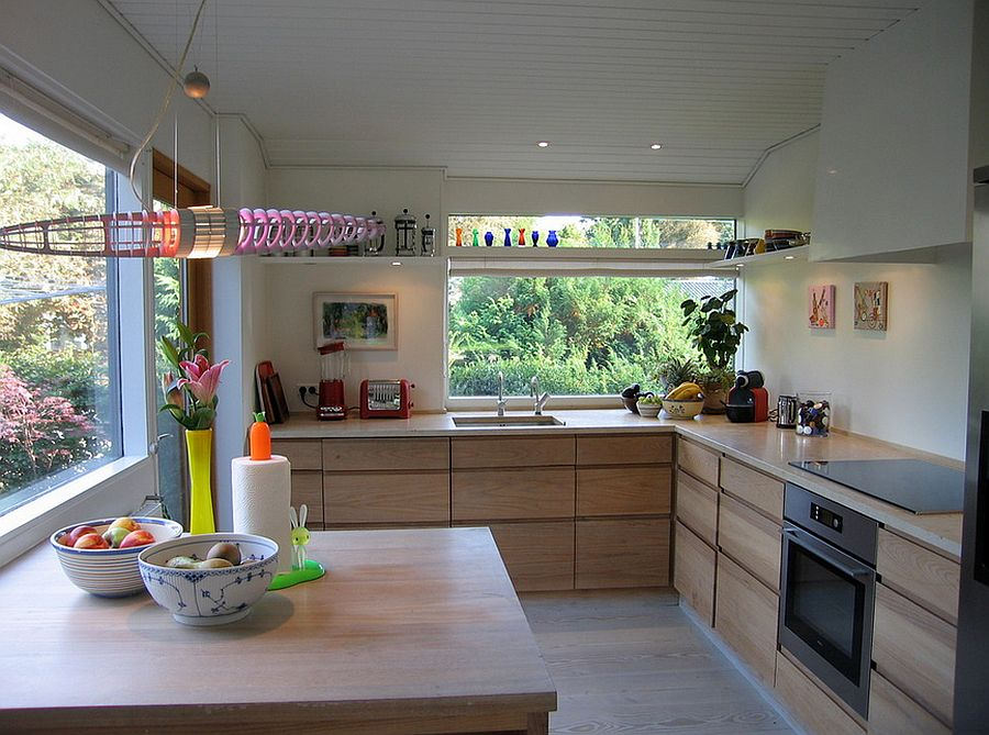 Open up the kitchen with smart use of windows