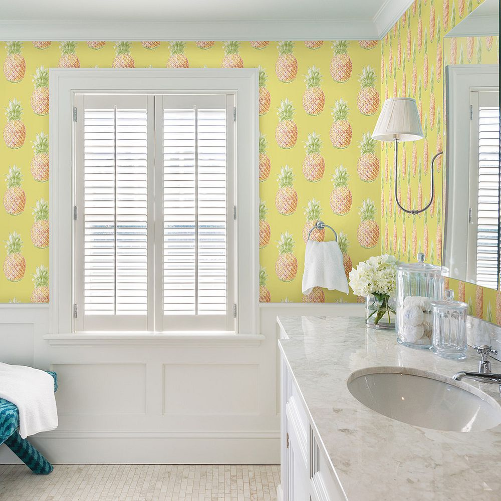 25 Tropical Wallpaper Ideas with Greenery and Colorful Summer Charm