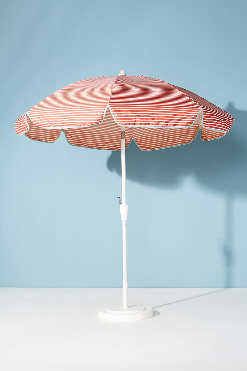 Red-striped-umbrella-with-retro-flair