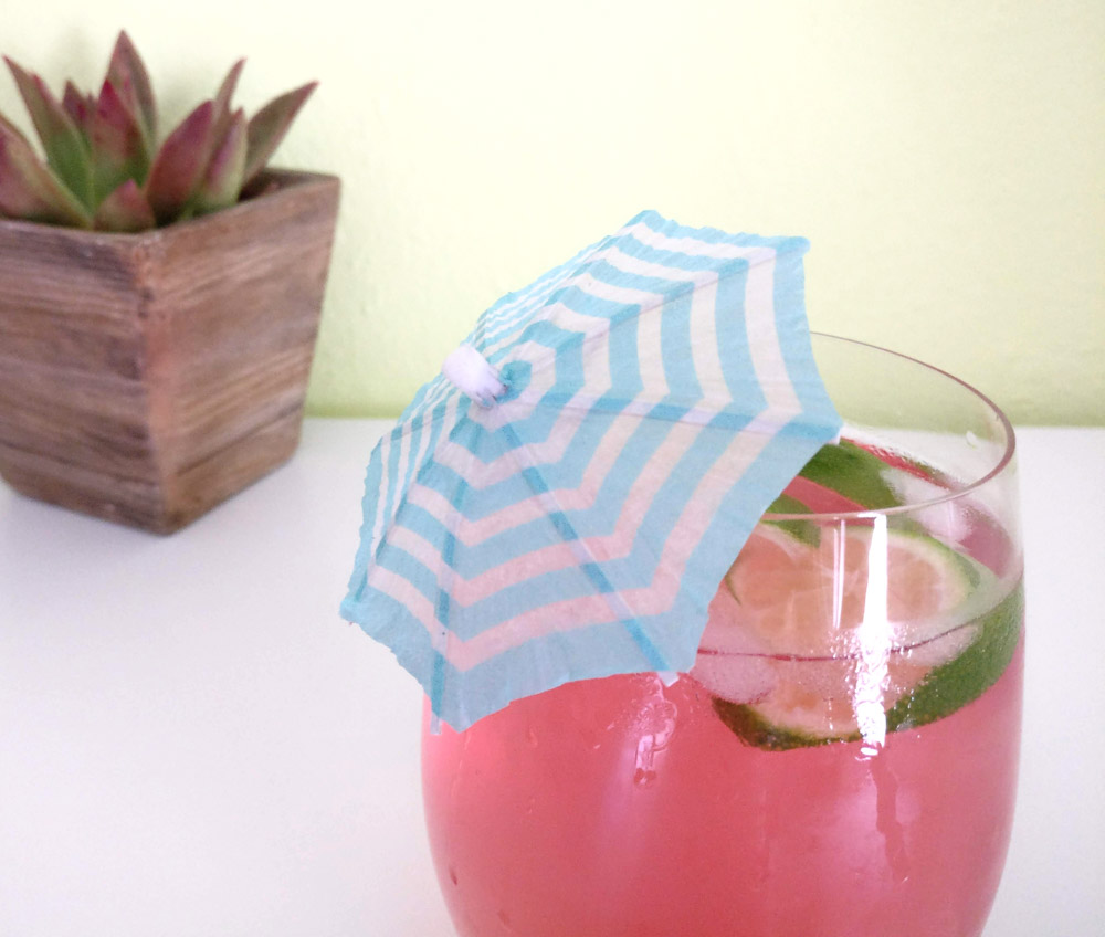 Refreshing summer cocktail